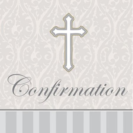 Confirmation Lunch Napkins Silver Devotion Cross - 16 Count](Confirmation Party)