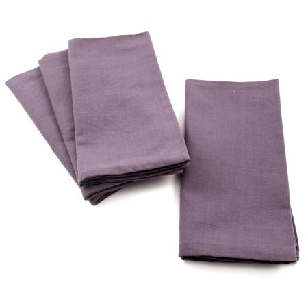 Park B. Smith Dalton Lavender Purple 100% Cotton Cloth Dinner Napkin, Set of 4