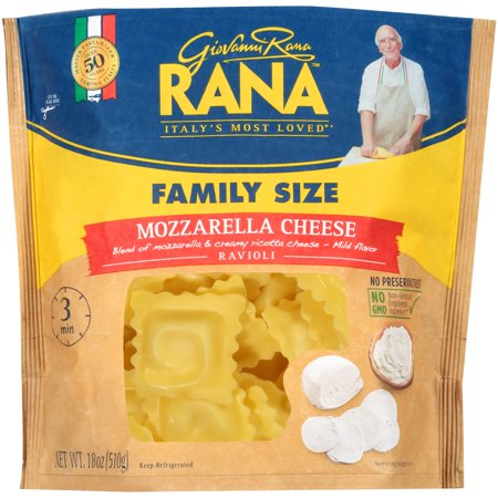 Rana Mozzarella Cheese Ravioli 18 Oz Walmartcom