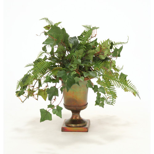 Distinctive Designs Mountain Ivy, Fern Desk Top Plant in Urn