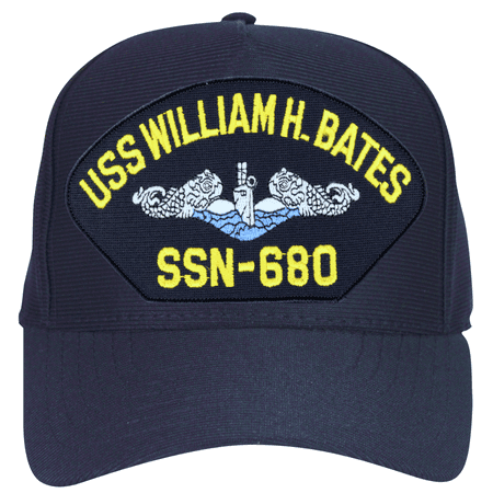 USS William H. Bates SSN-680 Blue Water ( Silver Dolphins ) Submarine Enlisted Cap ()
