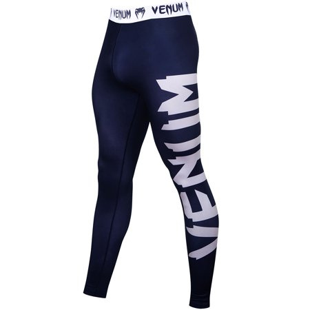 Venum Giant Ultra Light Fit Cut Dry Tech MMA Compression Spats - Navy Blue/White ()