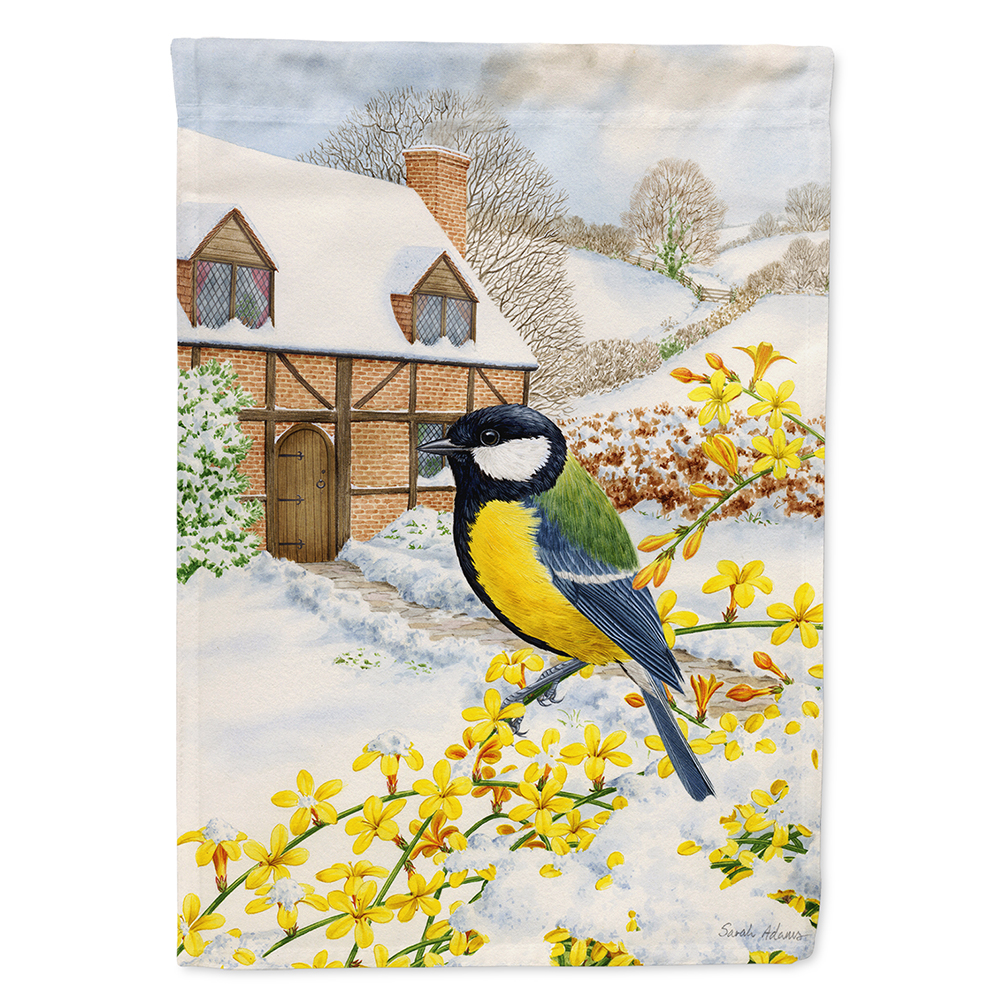 Great Tit Flag Canvas House Size