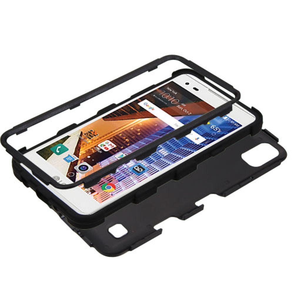LG Tribute HD Phone Case, LG X STYLE Case, LG Tribute HD Case, by Insten Tuff Hard Hybrid Dual Layer Case For LG X STYLE / Tribute HD case cover - image 2 of 3