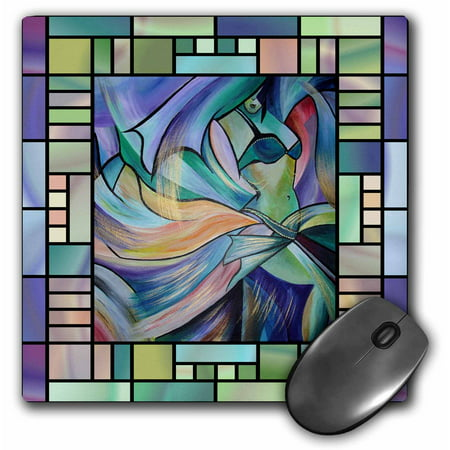 3dRose Art deco Dancer - dance, dancing, belly dance, bellydance, oriental dance, middle eastern dance, , Mouse Pad, 8 by 8 inches