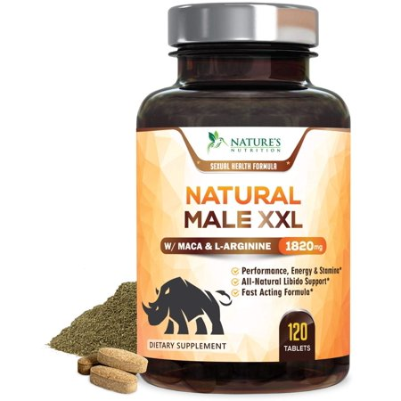 Nature's Nutrition Natural Male XXL Pills, 1820 mg, 120