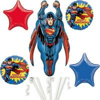 Superman Happy Birthday Foil Balloon Bouquet