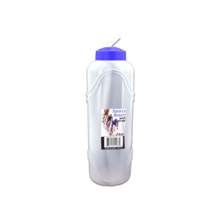 Bulk Buys HL166-48 Water Bottle With Straw, 25 oz.