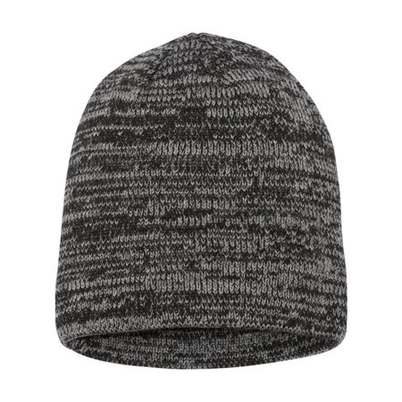 Couver Marled Knit Beanie Chunky Skull Cap 1PC - (Grey/ Charcoal)