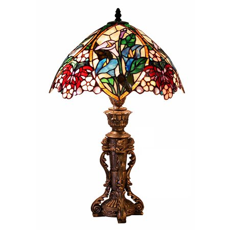 Tiffany Inspired Flower (Tiffany Style Flower Design Table Lamp )