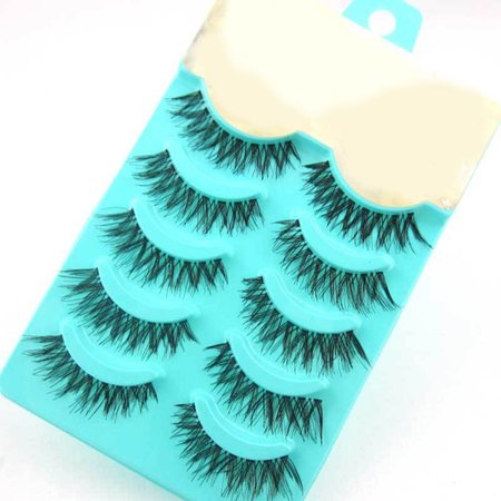 2c9c518e660 5 Pairs Natural False Eyelashes Soft Long Thick Women Beauty Makeup ...