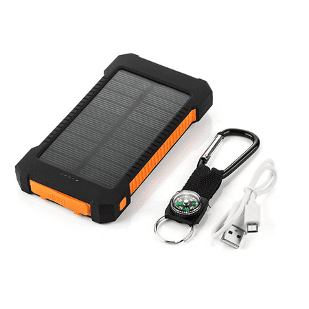 Waterproof 500000mah 2 Usb Portable Solar Battery Charger