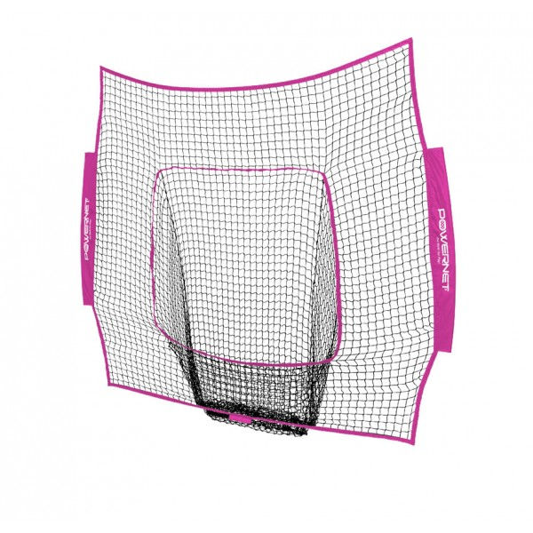 PowerNet Baseball and Softball 7x7 Color Nets (Net Only) Replacement - New Team Color - Pink