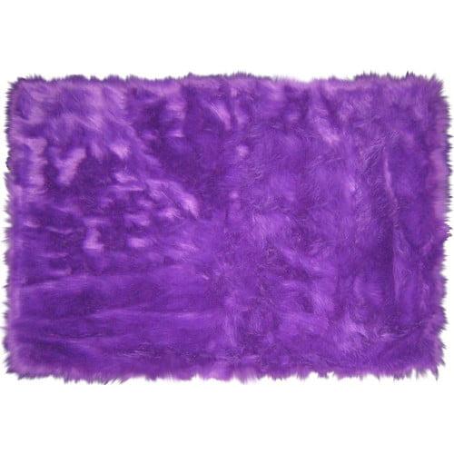 L.A. Rugs Flokati Purple Area Rug