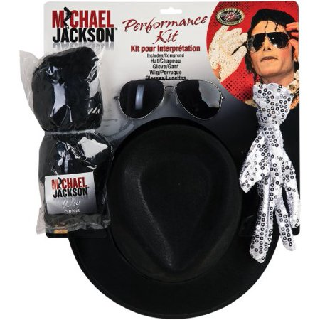 Michael Jackson Costume Accessory Kit with Wig, Hat, Glove and Glasses](Michael Jacksons Glove)