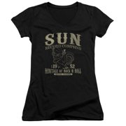 Sun Records Rockabilly Bird Juniors V-Neck Shirt