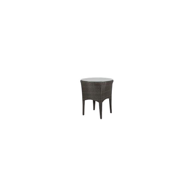 Source Outdoor SO-2003-323-ESP St. Tropez Round Shaped End Table in Espresso by Source Outdoor