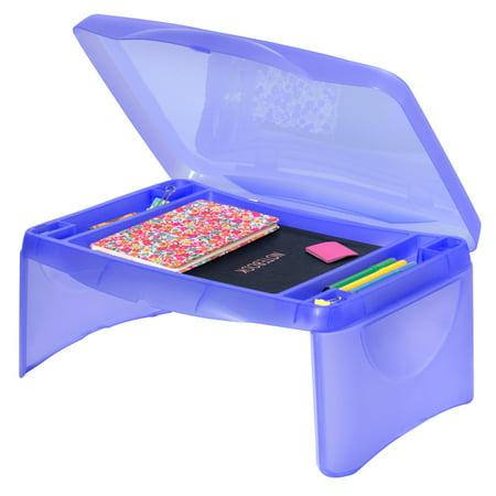 Best Choice Products Kids Folding Lap Desk W/ Storage- Blue