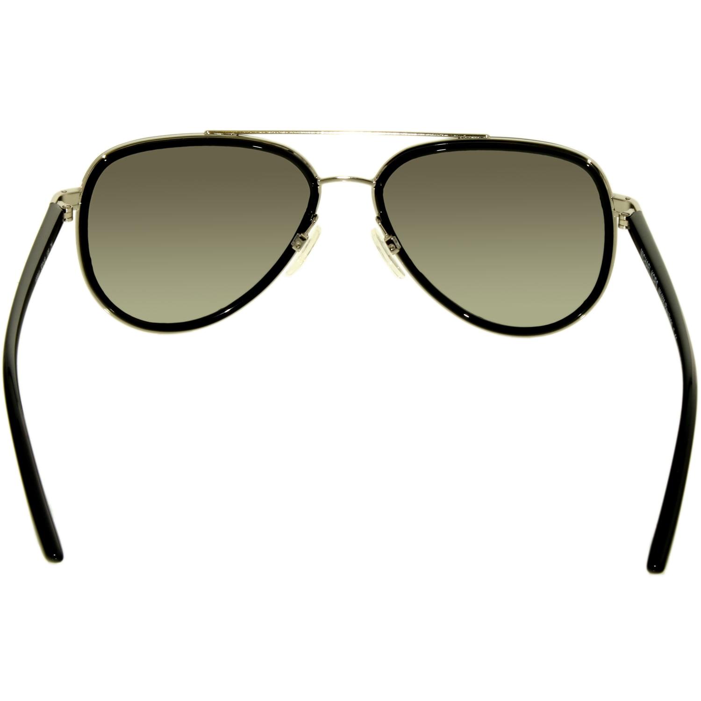 69e2d2484b9 Michael Kors - Michael Kors Women s Gradient Playa Norte MK5006-103311-57  Black Aviator Sunglasses - Walmart.com