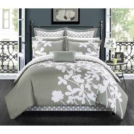 Chic Home Ayesha 7-Piece Floral Comforter Set ()