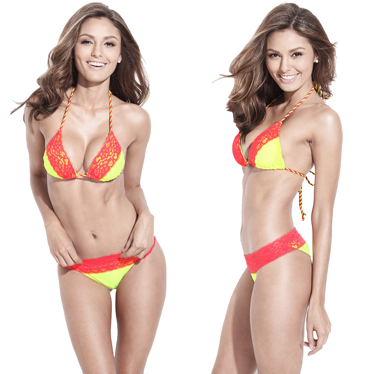 EXTRA PADS 32B Victoria Secret Swim suit Top Swimwear TANKINI PUSH UP HALTER