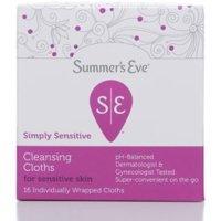 Summer's Eve Feminine Cleansing Cloths Sensitive Skin 16 Each (Pack of 2)