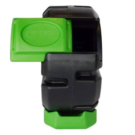 FCMP Outdoor Half Size 19 Gallon Plastic Rolling Composter Tumbler Bin,