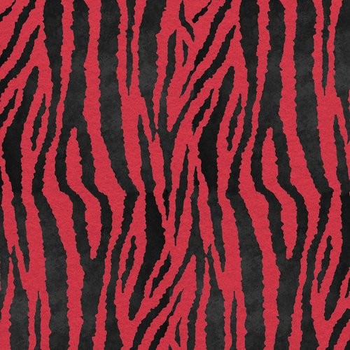 "FanciFelt Zebra Fabric, 9"" x 12"", Black and Shocking Pink"
