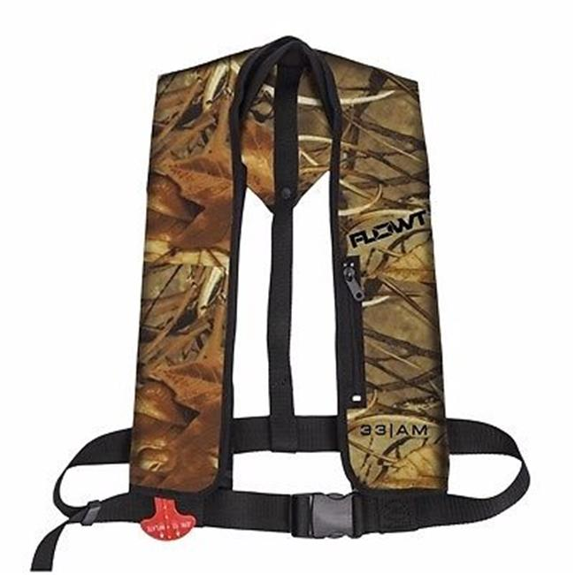 Inflatable Yoke Vest - Camo, 33 Gram Auto/Manual; Universal Adult