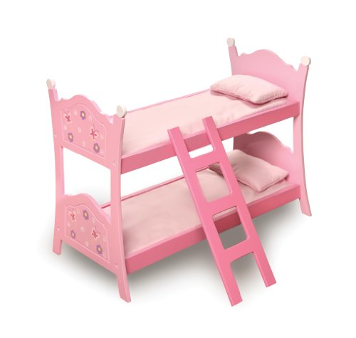 Badger Basket Blossoms And Butterflies Doll Bunk Beds With Ladder