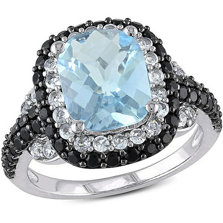 ONLINE - 5-3/8 Carat T G W  Blue Topaz and Created White