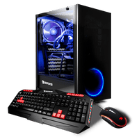 iBUYPOWER View21022A - Gaming Desktop PC -AMD Ryzen 5 2600x - 16GB DDR4 Memory - AMD Radeon RX 580 4GB - 2TB Hard Drive and 120GB SSD - Wi-Fi - RGB (Monitor not Included)