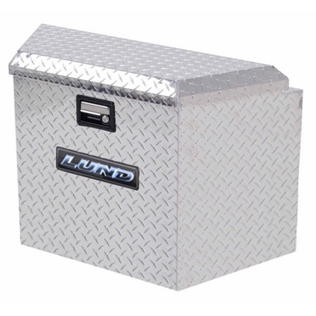 Lund 6120 16-Inch Aluminum Trailer Tongue Truck Box, Diamond Plated,