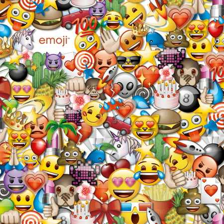 Emoji party cotton fabric by the yard 44 45 w yellow for Emoji fabric