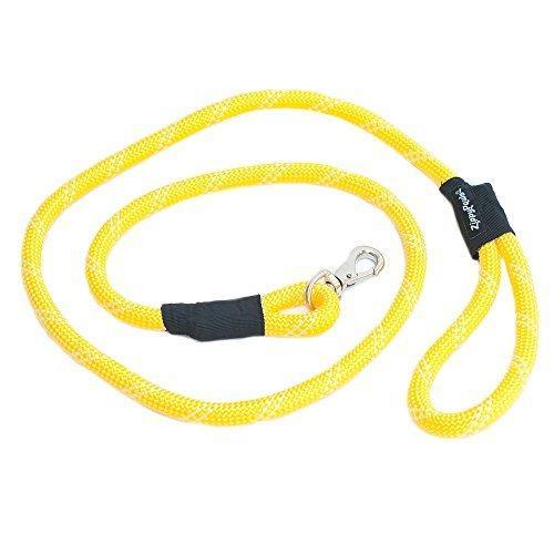 ZippyPaws Climbers Mountain Climbing Rope Dog Leash (Yellow, 6-Feet)