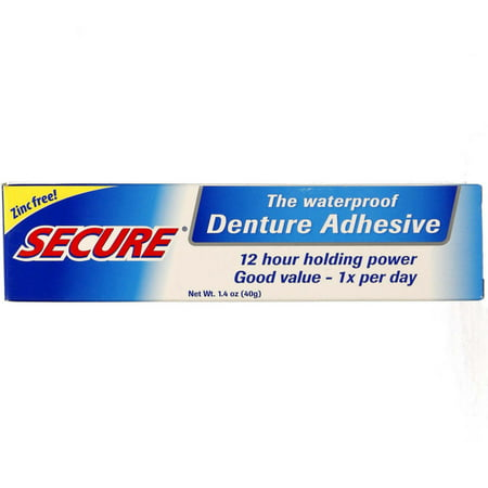 2 Pack - Secure Denture Waterproof Adhesive 1.40