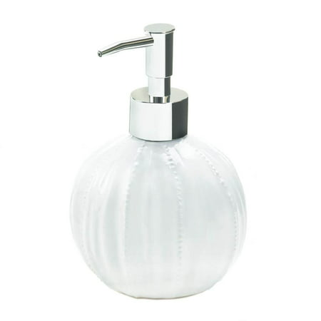 Decorative Soap Dispenser, Pure Round Hand Kitchen Ceramic Soap Dispensing  Pump (Sold by Case, Pack of 12)