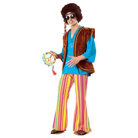 Woodstock Halloween Costume (John Q Woodstock Hippie Mens Costume R15812 - Standard Large (up to 44