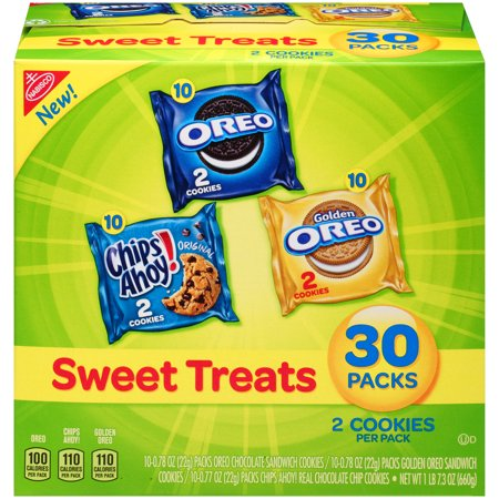 Nabisco Oreo, Chips Ahoy!, & Golden Oreo Sweet Treats Variety Cookie Pack, 23.3 Oz., 30 Count (Oreo Cookie Recipes Halloween)