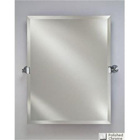 Afina Corporation RM-620-CR 24 in.Radiance Tilt Brackets Round Frameless Mirror - Polished Chrome