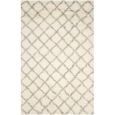 Safavieh Kenya 8' X 10' Hand Knotted Wool Pile Rug in Ivory and Gray - image 2 de 2
