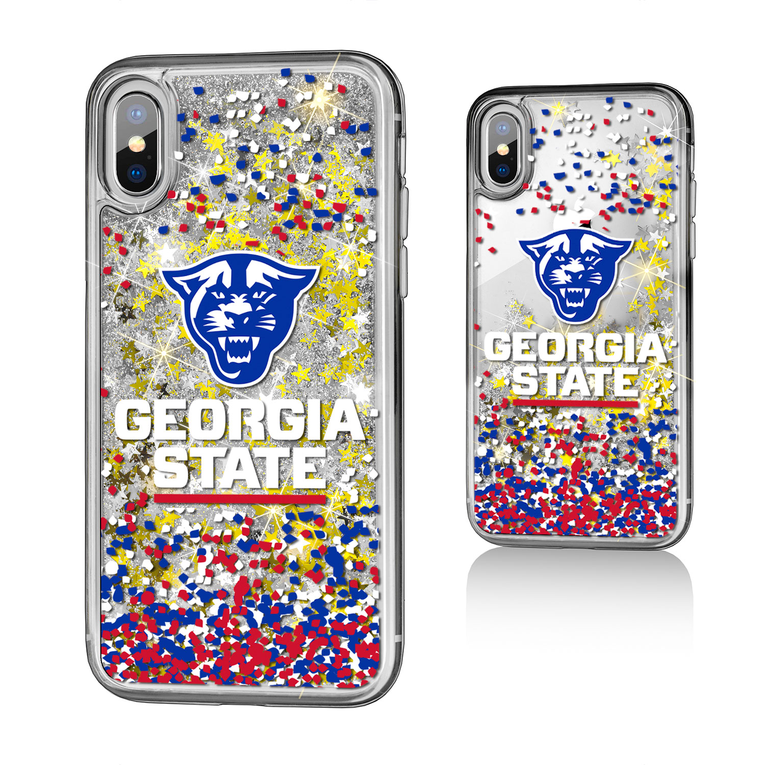 GSU Georgia State Panthers Confetti Glitter Case for iPhone X