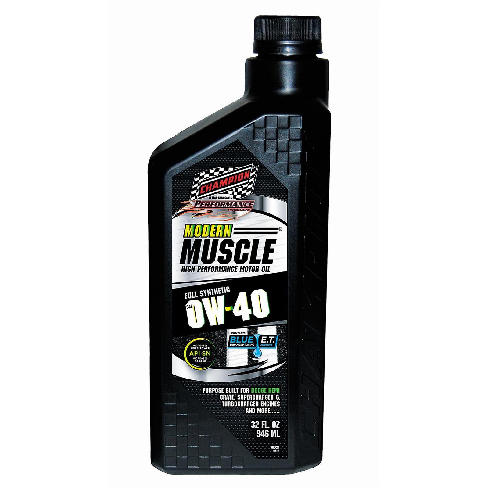 Champion Racing 4402H Modern Muscle Engine Oil, 0W40, 12/1 Quart