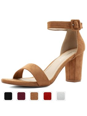 8bfcc780cd2ddb Product Image Unique Bargains Women Chunky Heel Ankle Strap Sandals Open  Toe Block Heel