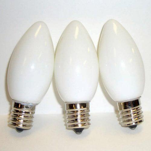 Brite Ideas 25 Bulb White C9 Incandescent Opaque Light Set