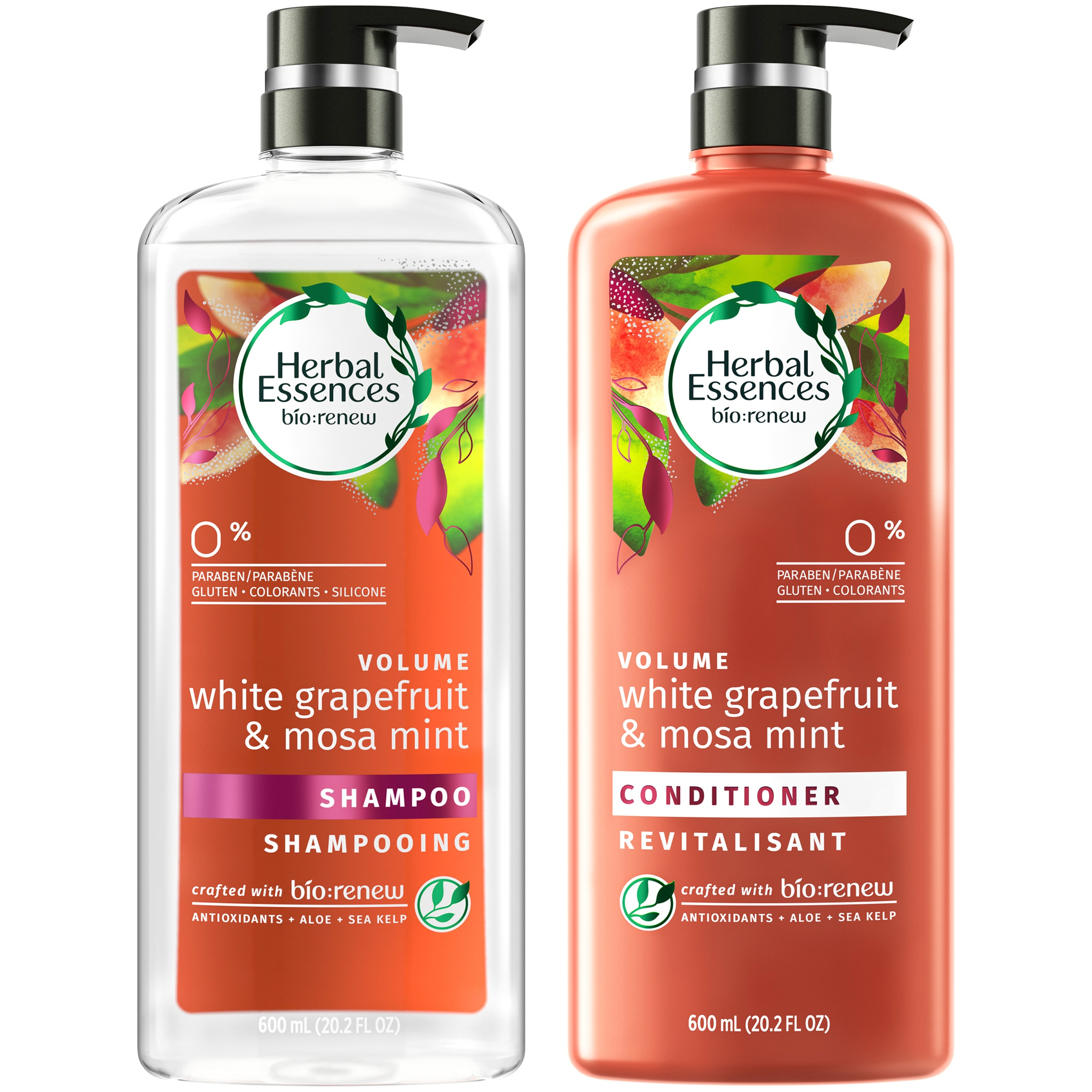 Herbal Essences Bio:Renew White Grapefruit & Mosa Mint Shampoo and Conditioner Set, 20.2 fl oz Each