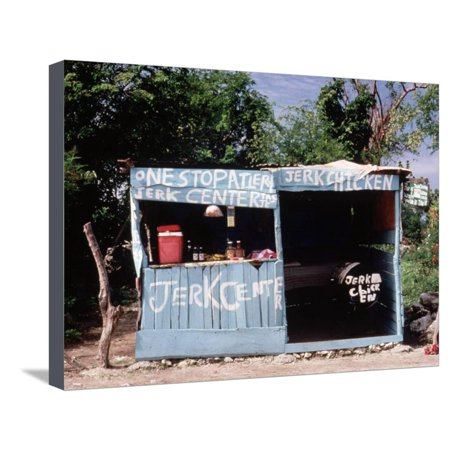Jerk Chicken Stand, Negril, Jamaica Stretched Canvas Print Wall Art By Debra Cohn-Orbach ()