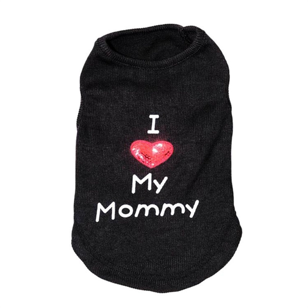 Small Pet Dog Clothes Puppy Letter Embroidered Polyester T-Shirt Vest Fashion