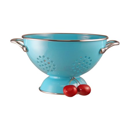 Reston Lloyd Turquoise - 1.5 Qt Colander- Powder Coated