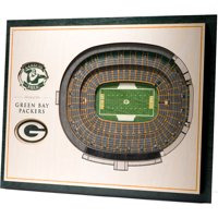 Green Bay Packers 17'' x 13'' 5-Layer StadiumViews 3D Wall Art - No Size
